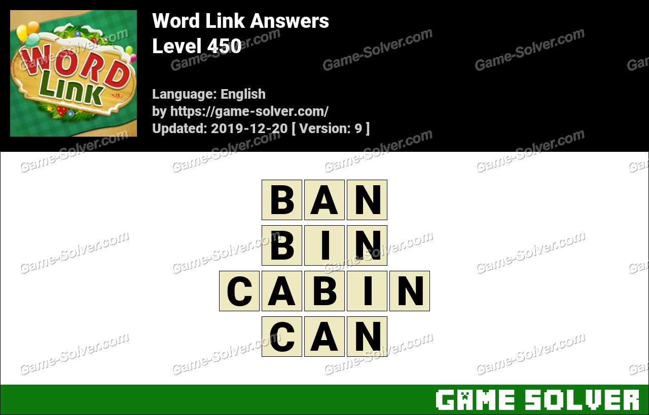 Word Link Level 450 Answers