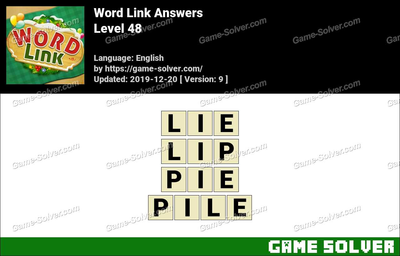 Word Link Level 48 Answers