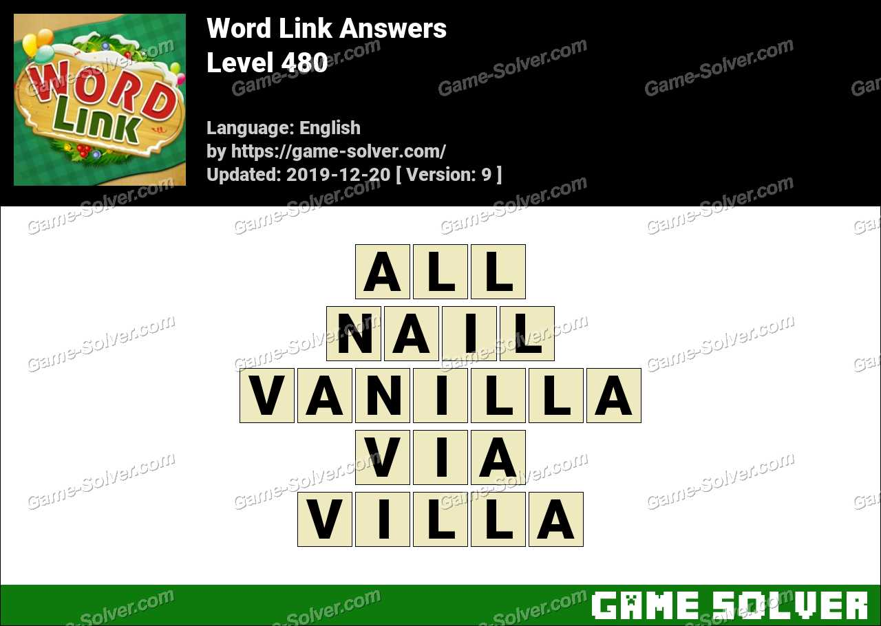 Word Link Level 480 Answers