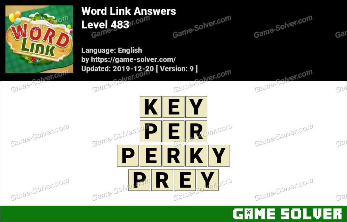 Word Link Level 483 Answers