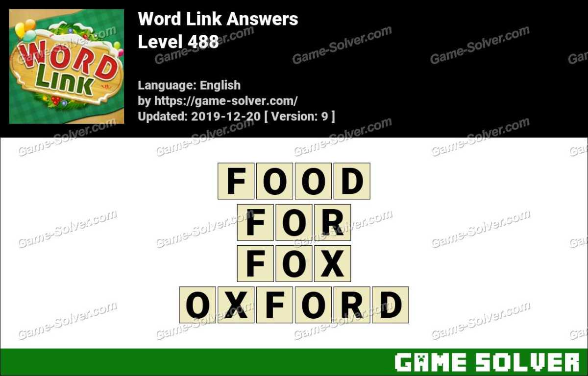Word Link Level 488 Answers