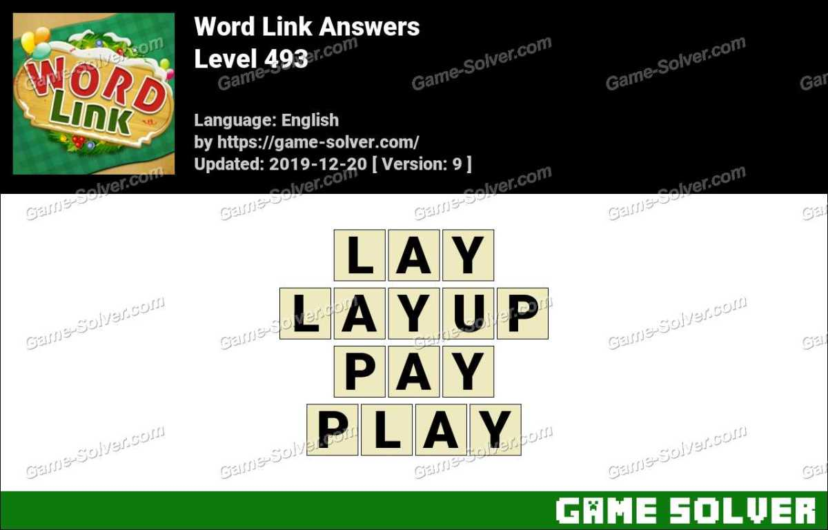 Word Link Level 493 Answers