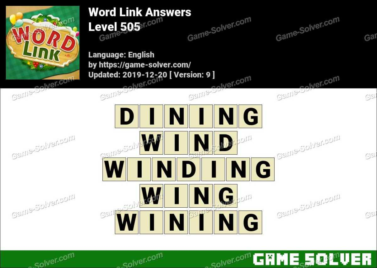 Word Link Level 505 Answers