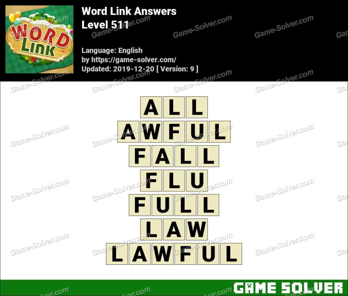 Word Link Level 511 Answers