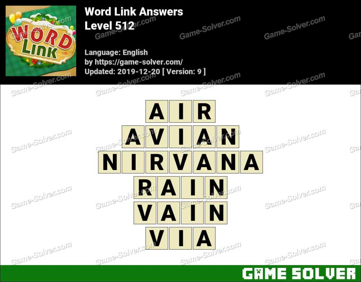 Word Link Level 512 Answers
