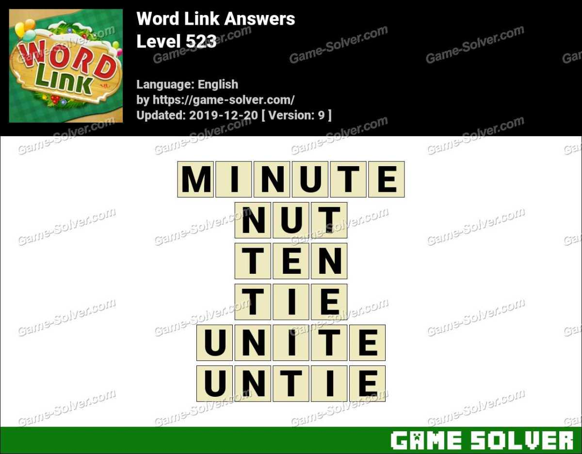 Word Link Level 523 Answers
