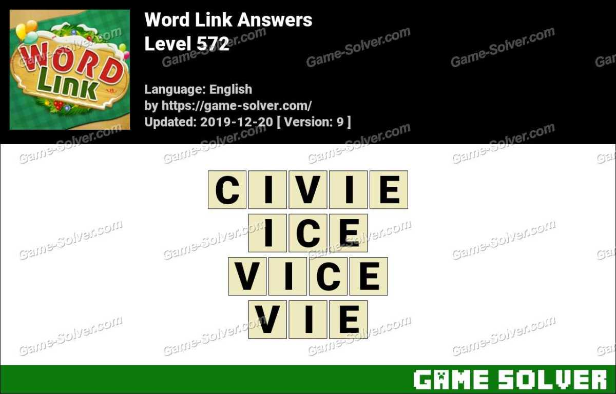 Word Link Level 572 Answers