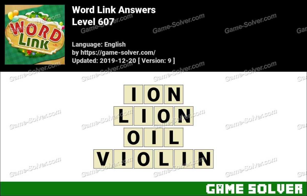 Word Link Level 607 Answers