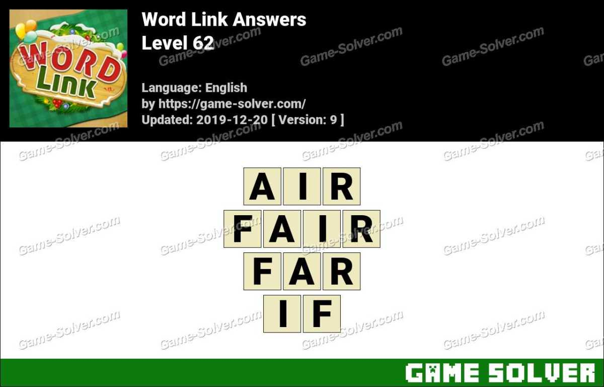 Word Link Level 62 Answers
