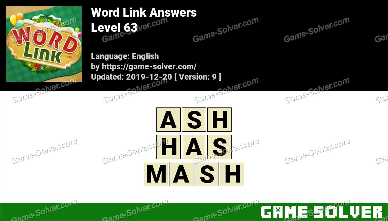 Word Link Level 63 Answers