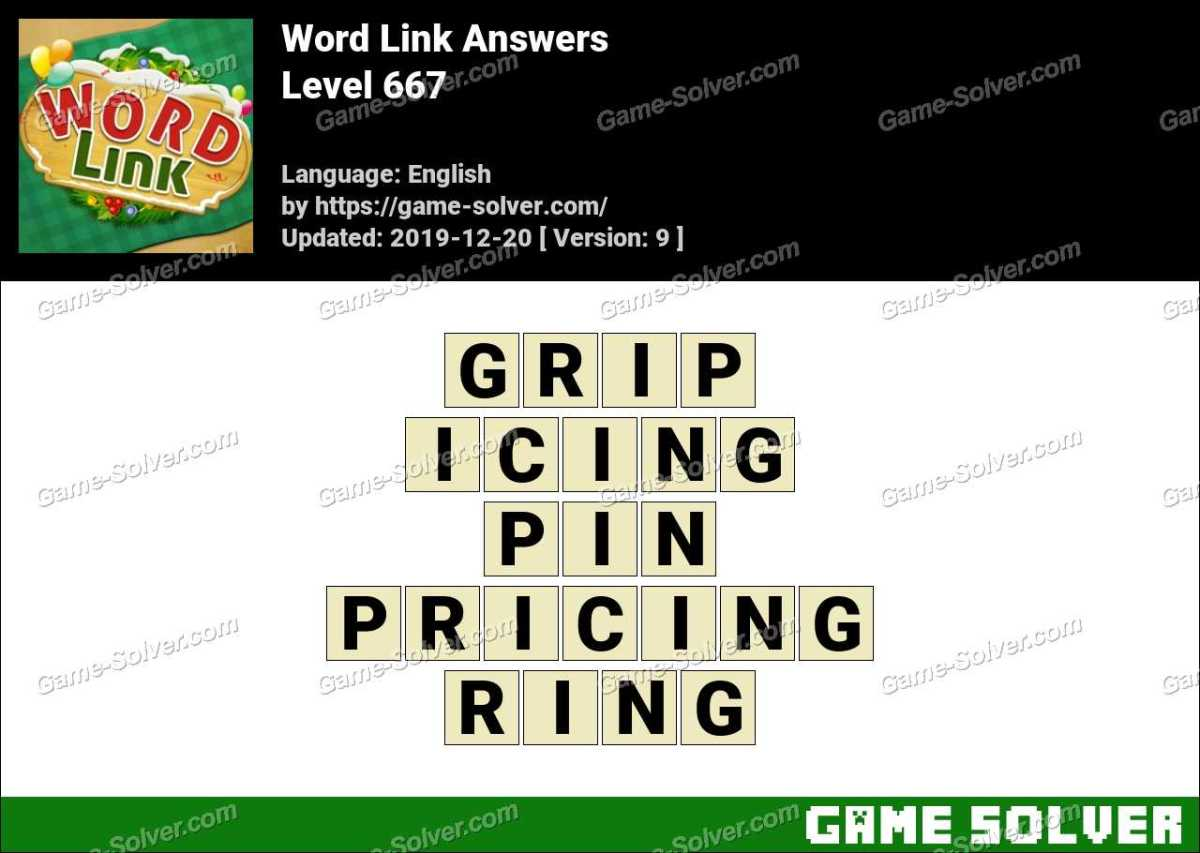 Word Link Level 667 Answers