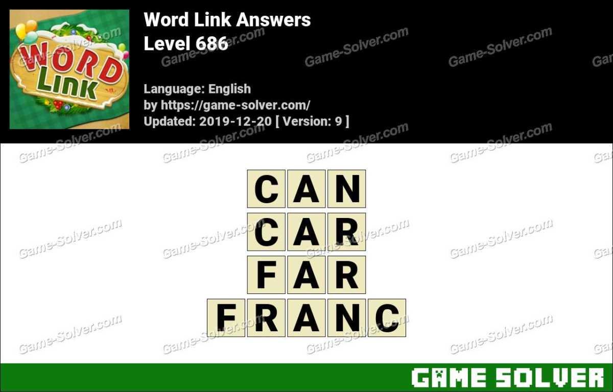 Word Link Level 686 Answers