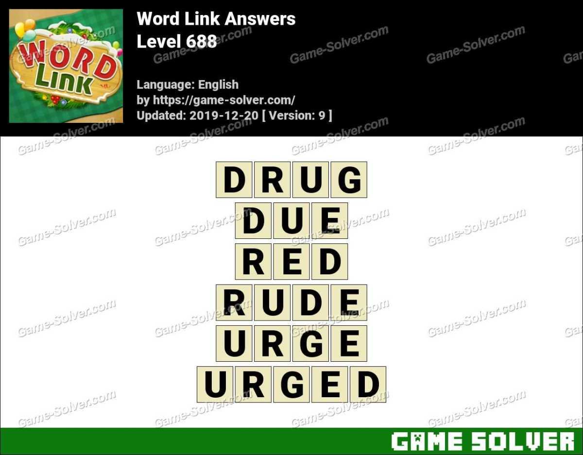 Word Link Level 688 Answers