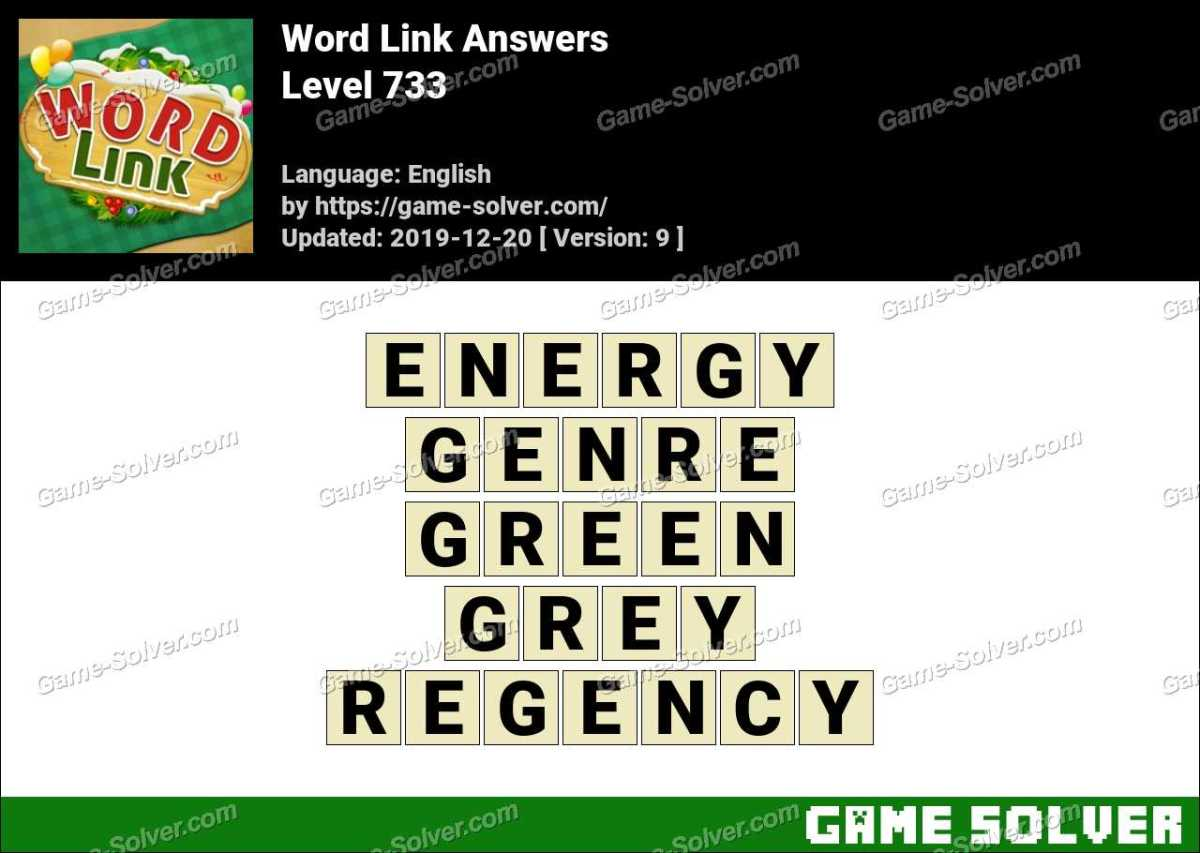 Word Link Level 733 Answers