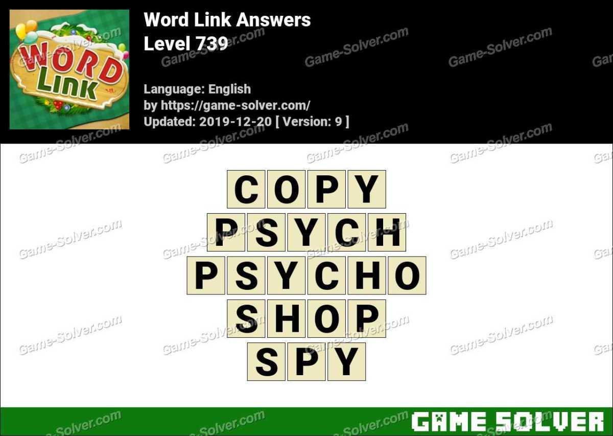Word Link Level 739 Answers