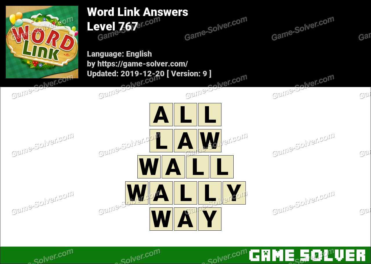 Word Link Level 767 Answers