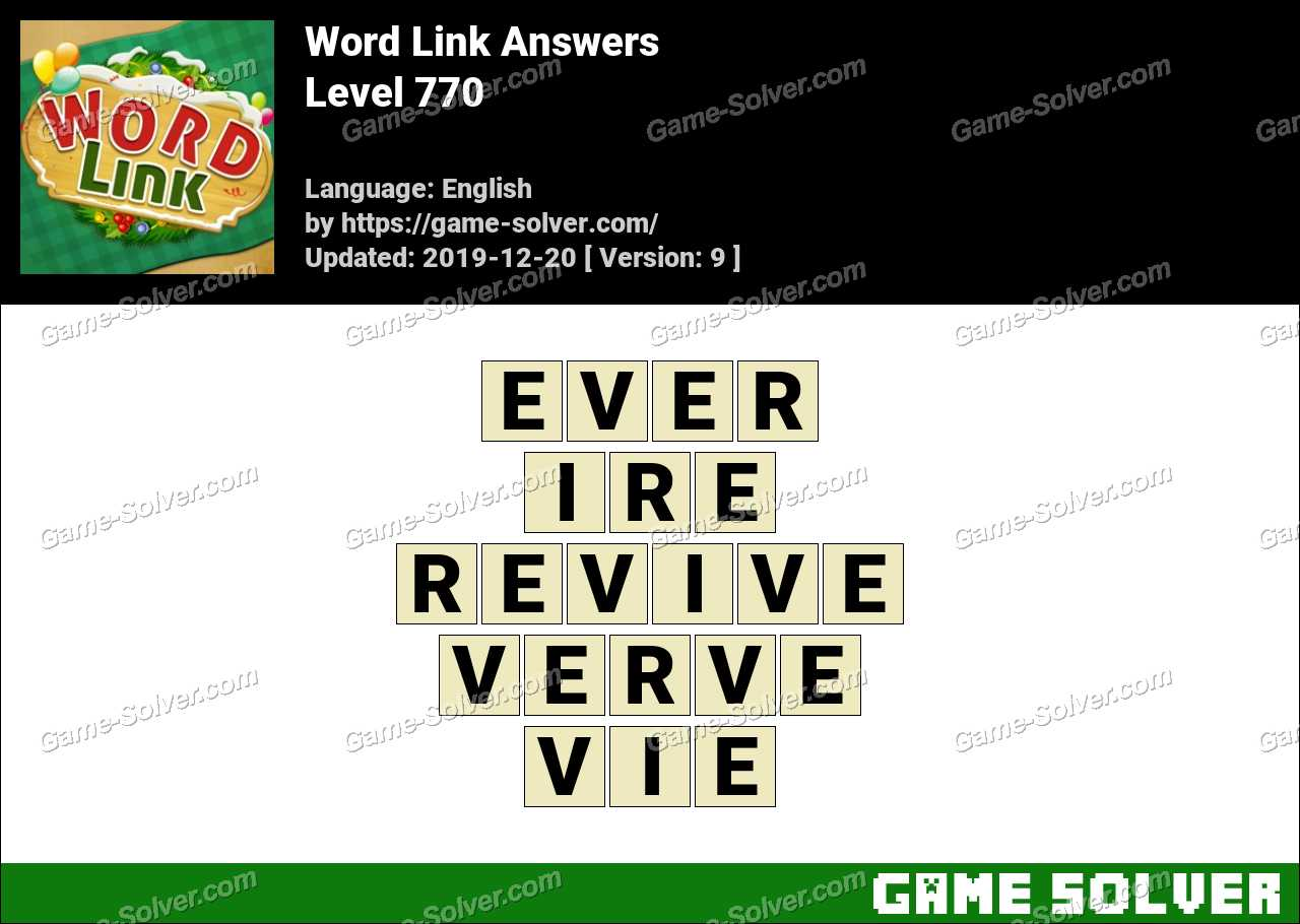 Word Link Level 770 Answers