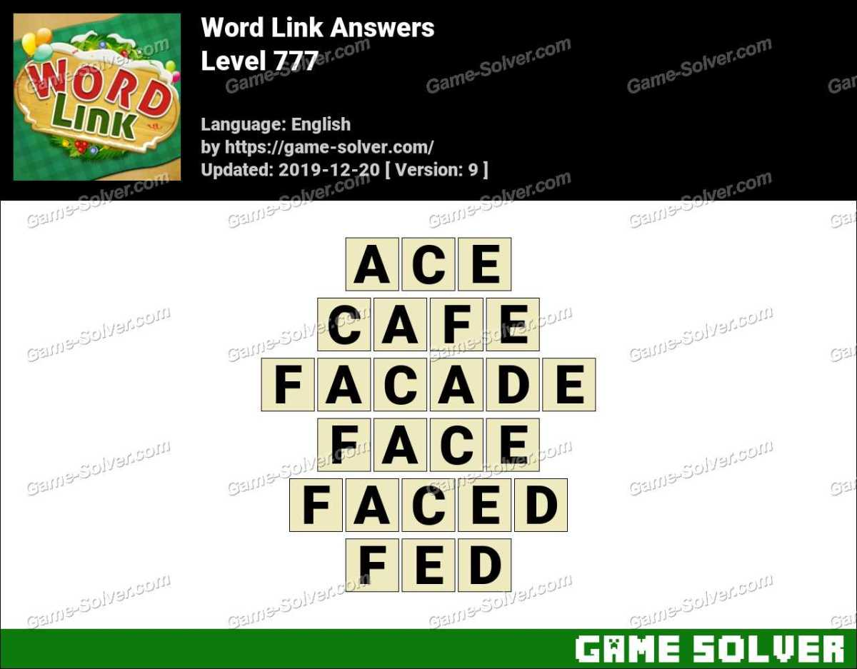 Word Link Level 777 Answers