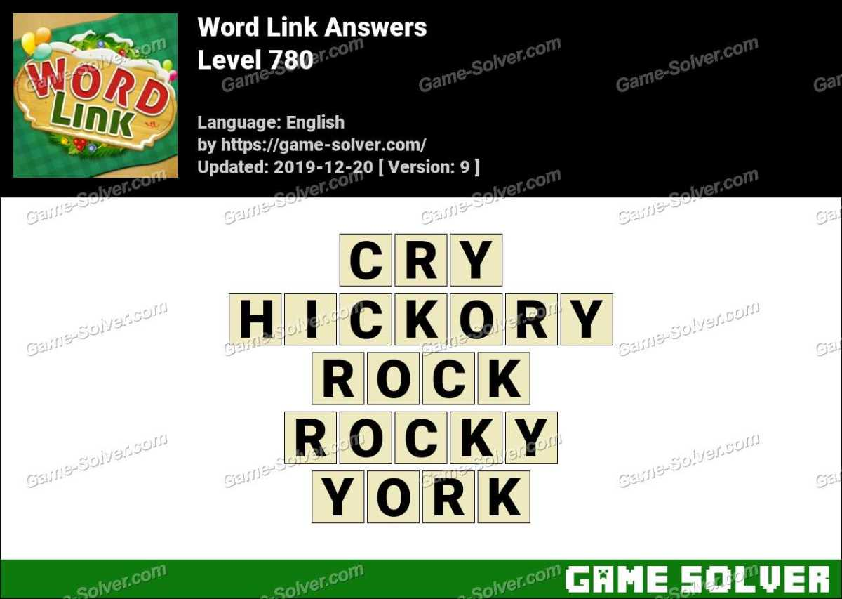 Word Link Level 780 Answers