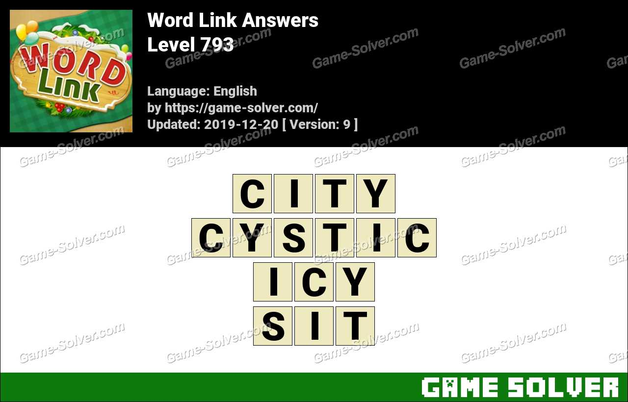 Word Link Level 793 Answers