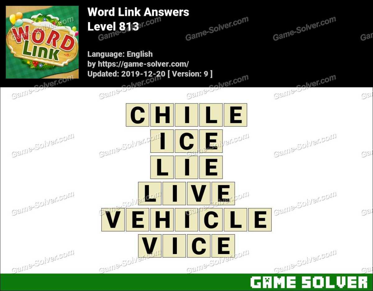 Word Link Level 813 Answers