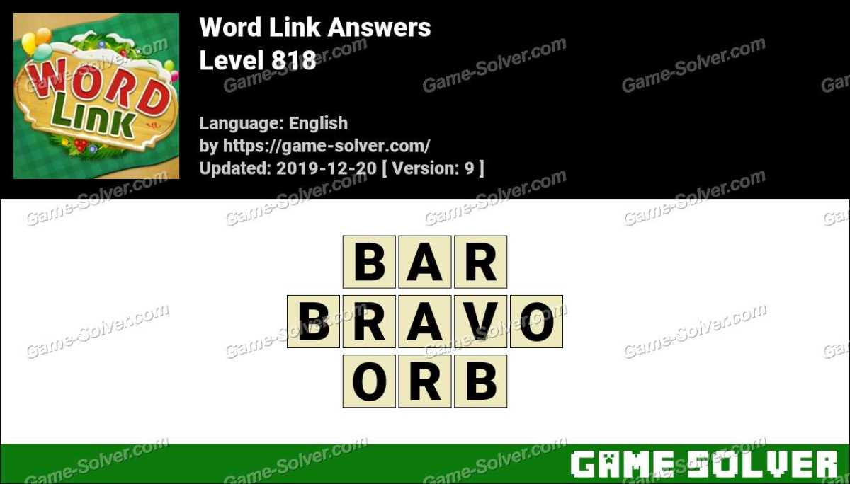Word Link Level 818 Answers