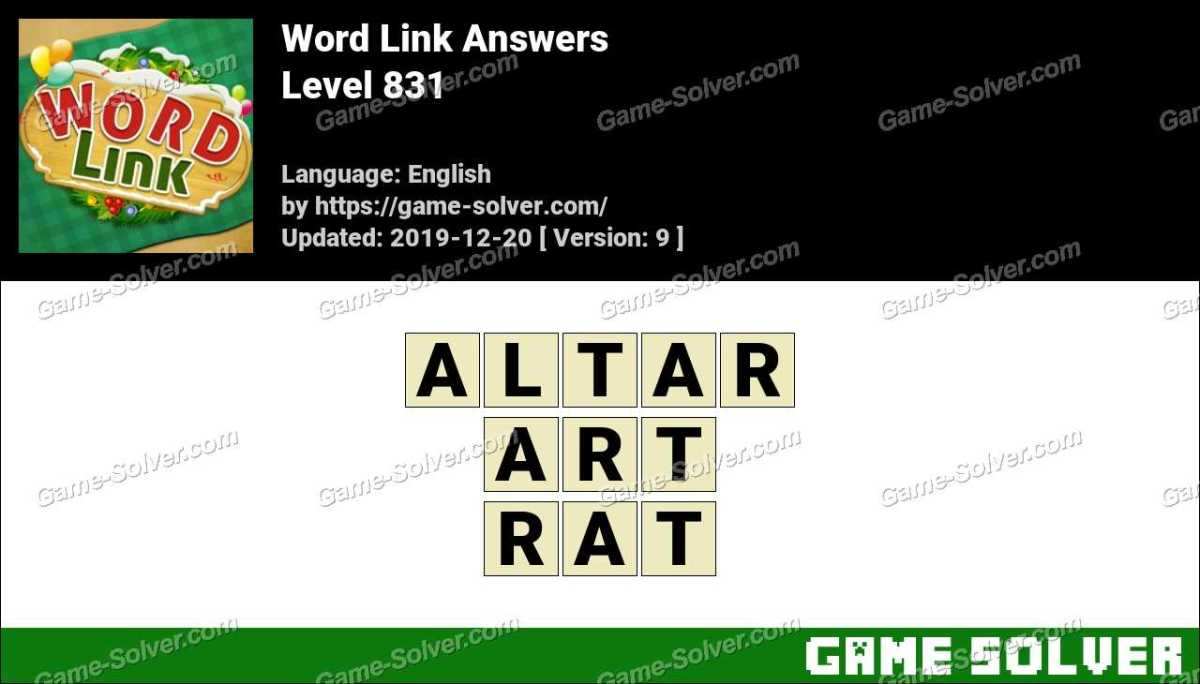 Word Link Level 831 Answers