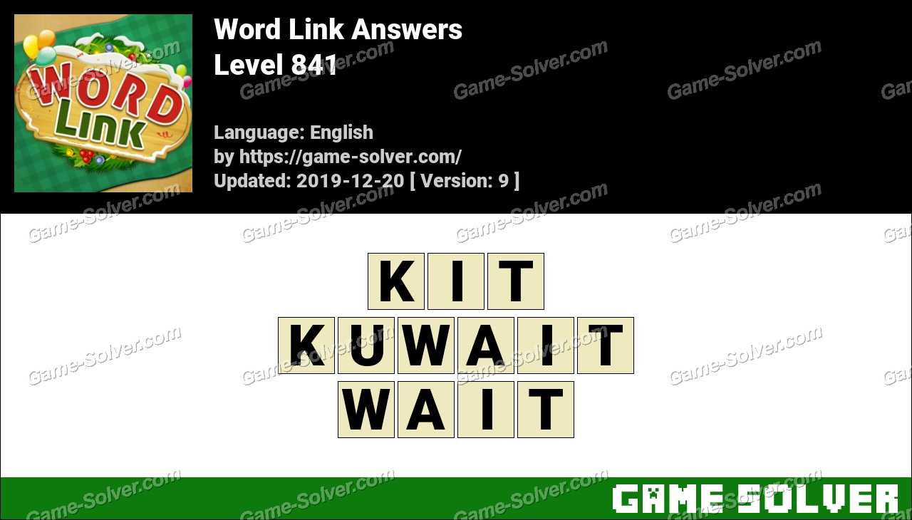 Word Link Level 841 Answers