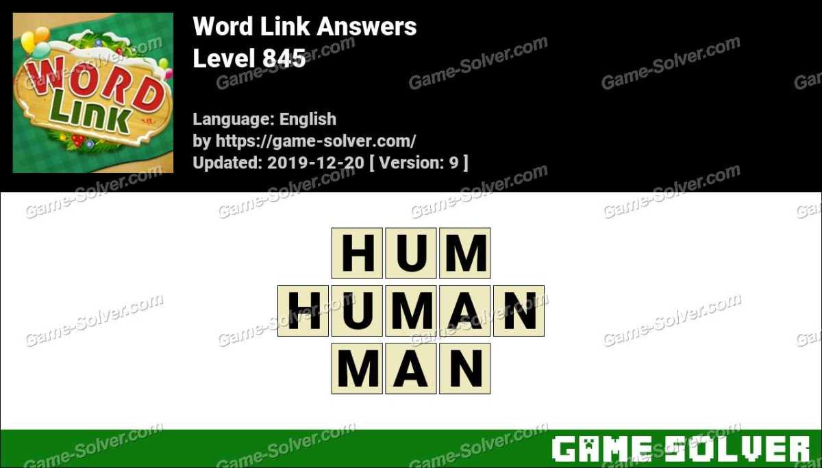 Word Link Level 845 Answers