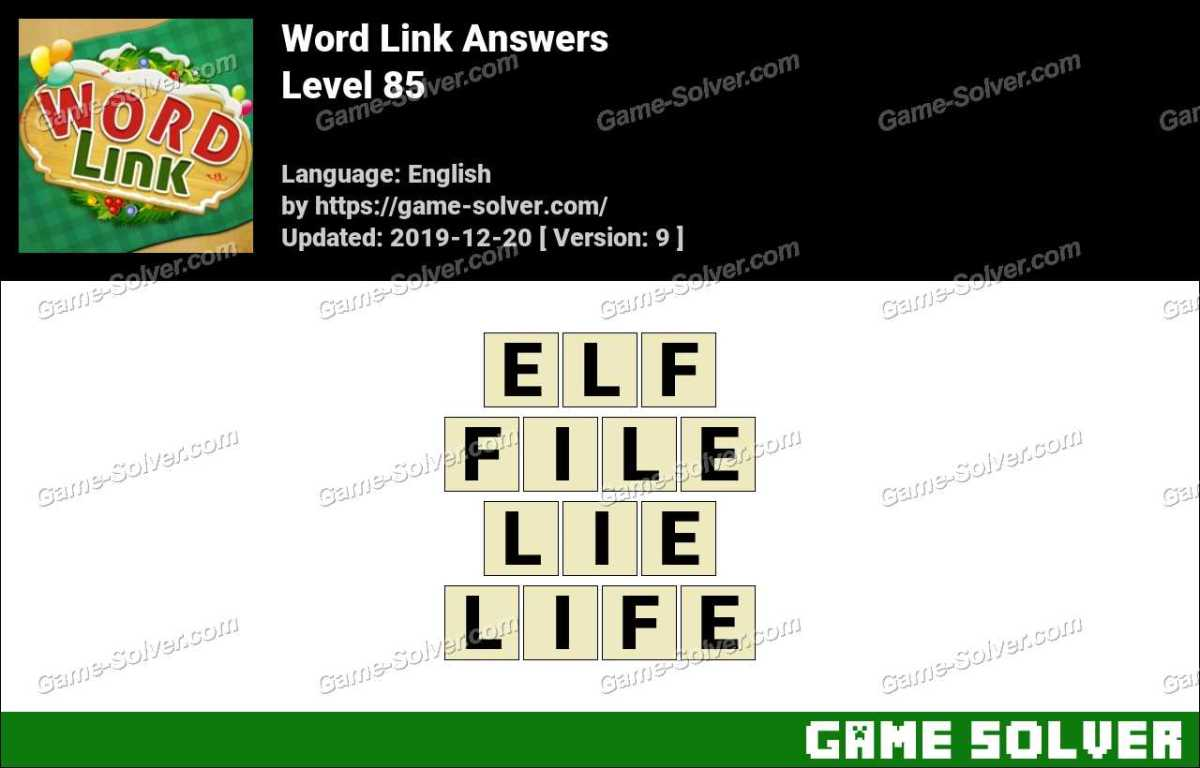 Word Link Level 85 Answers