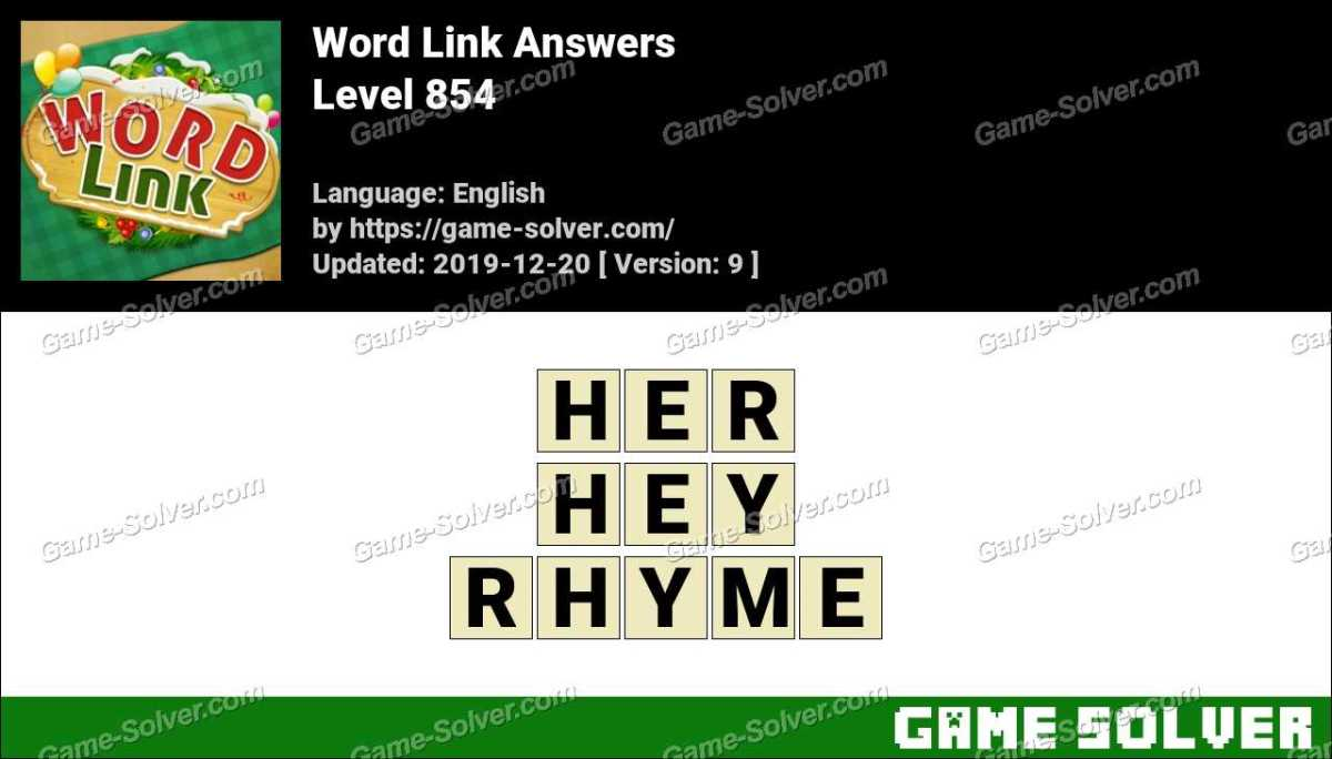 Word Link Level 854 Answers