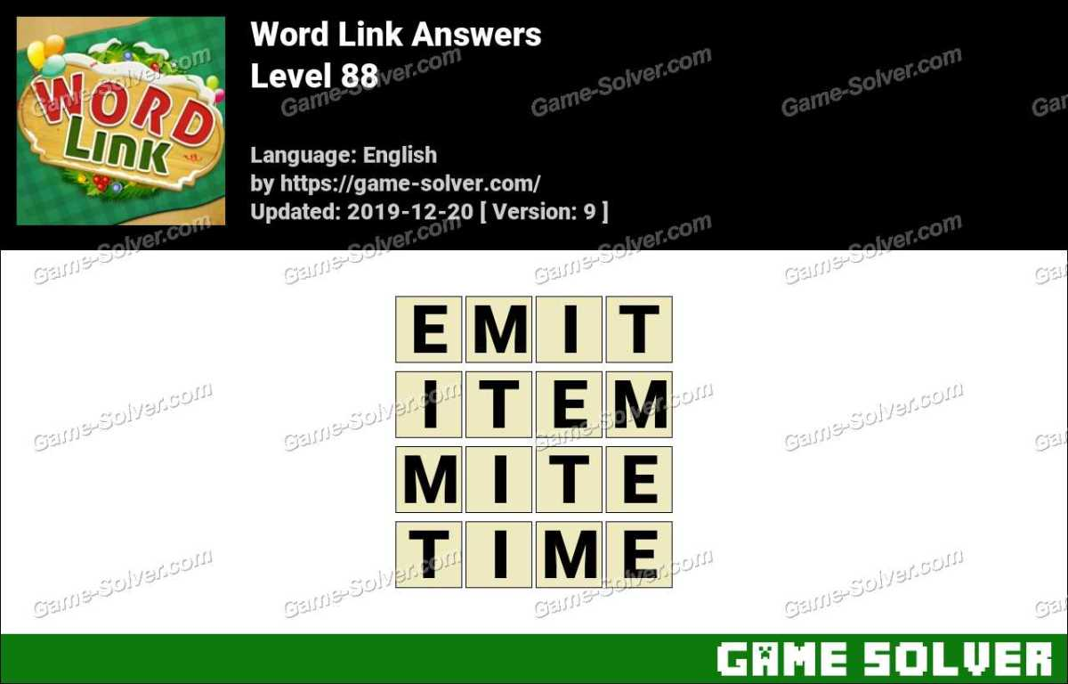 Word Link Level 88 Answers