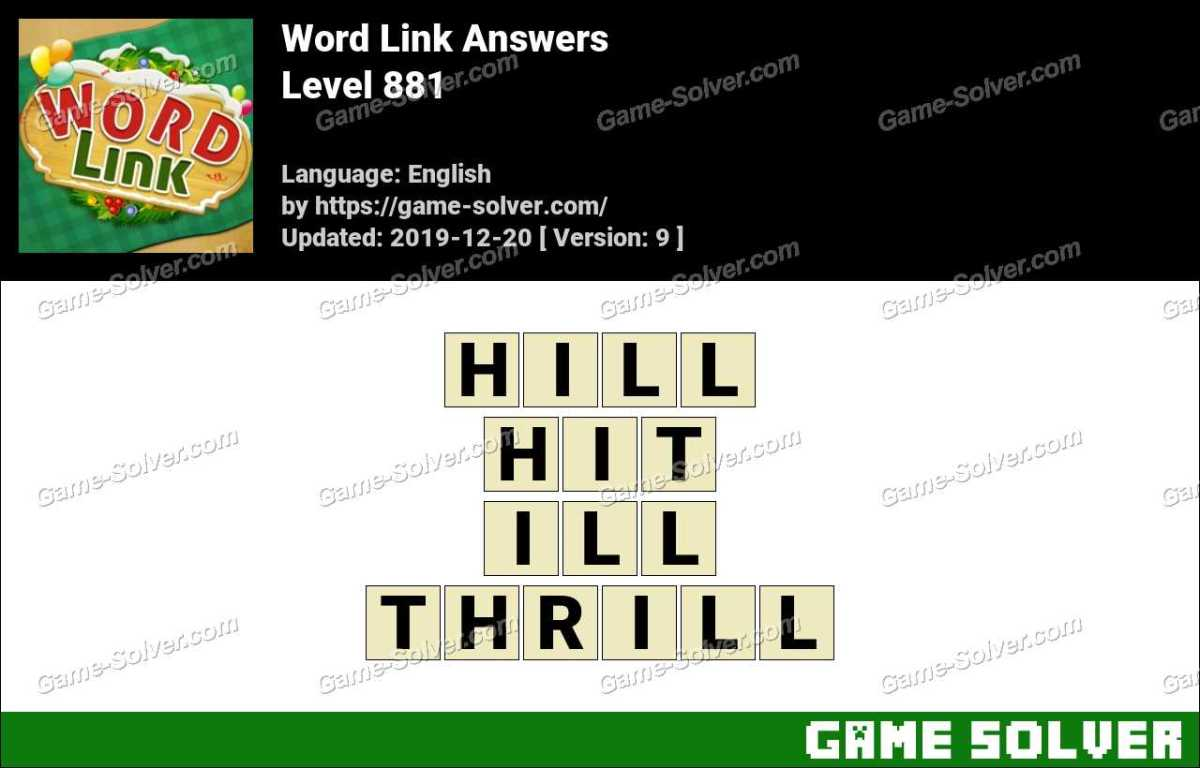 Word Link Level 881 Answers