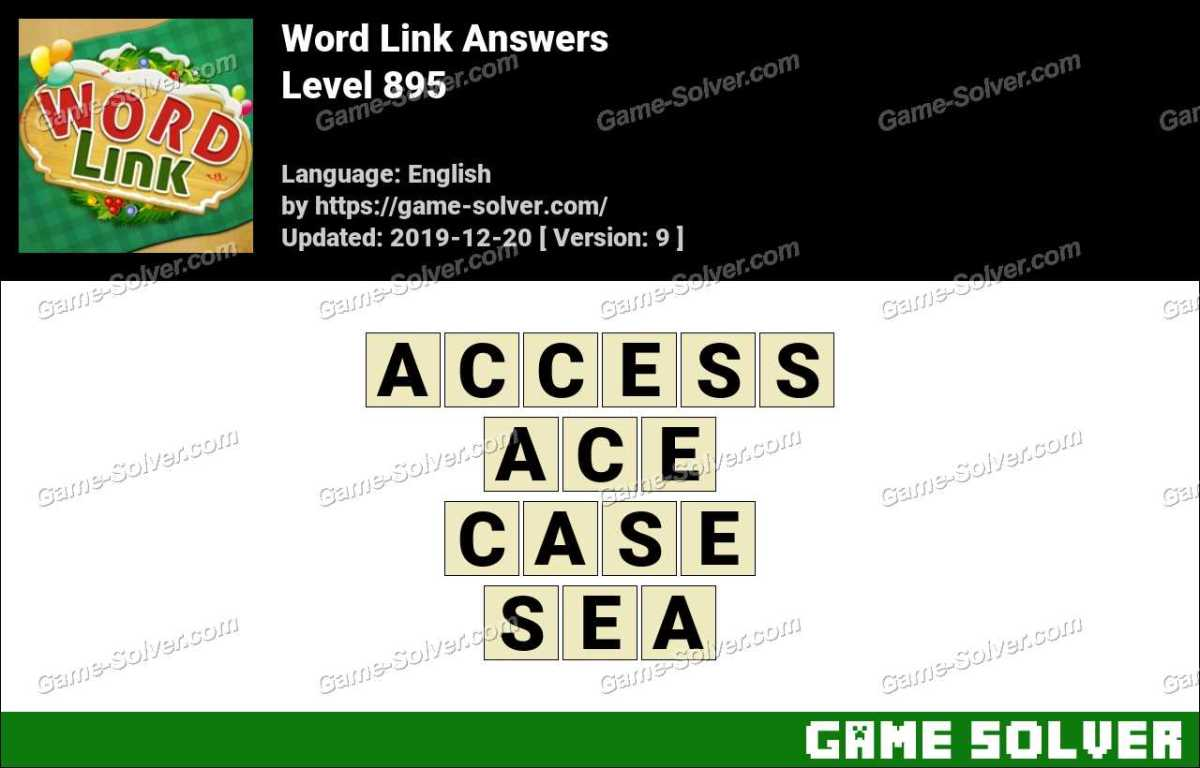 Word Link Level 895 Answers