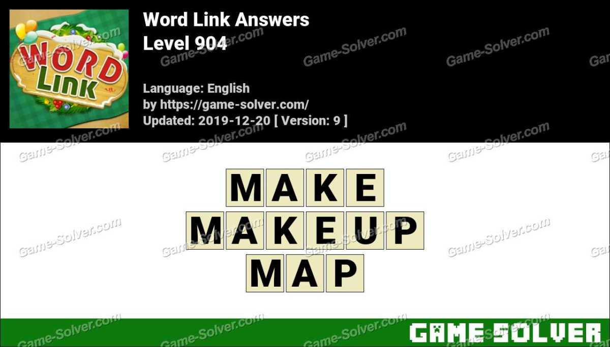 Word Link Level 904 Answers