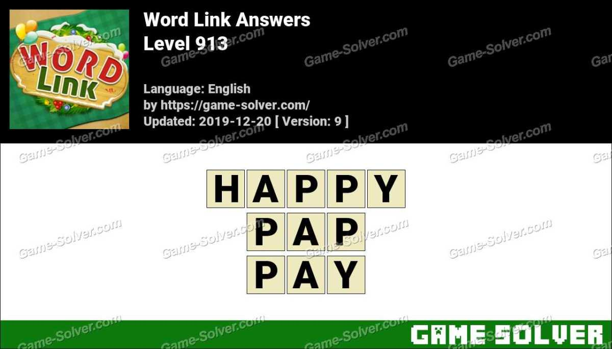 Word Link Level 913 Answers