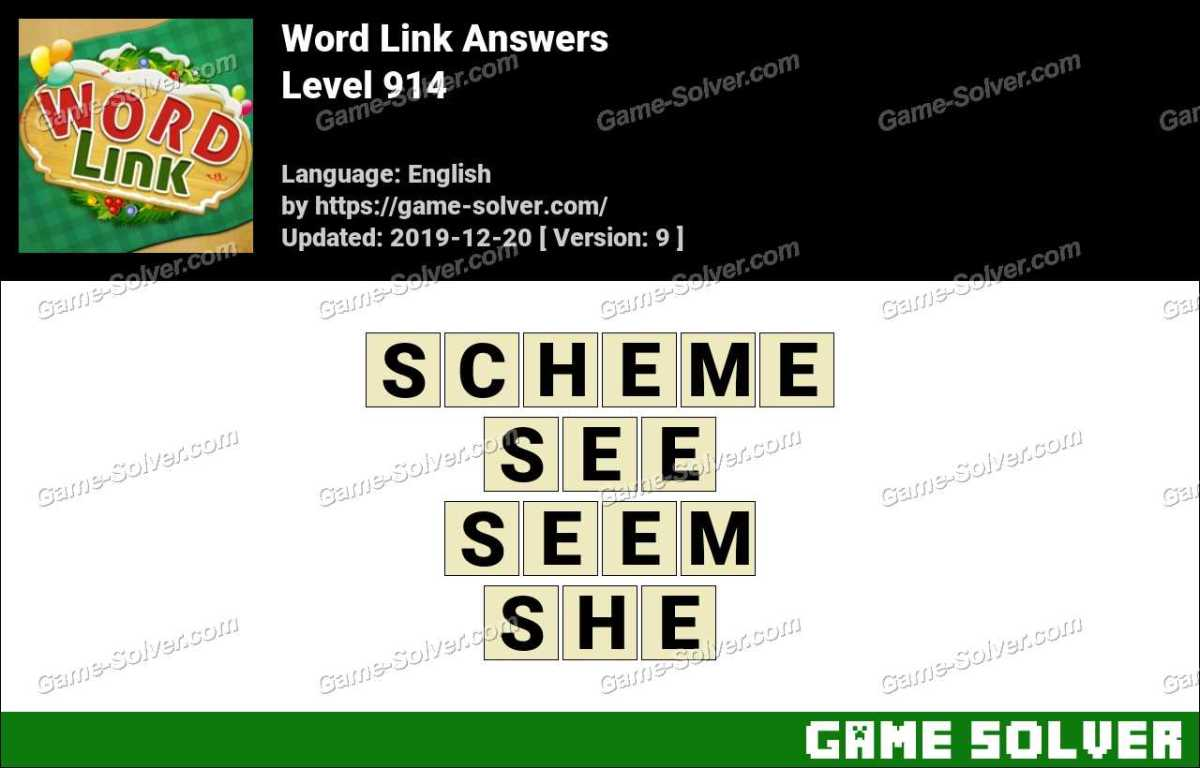 Word Link Level 914 Answers