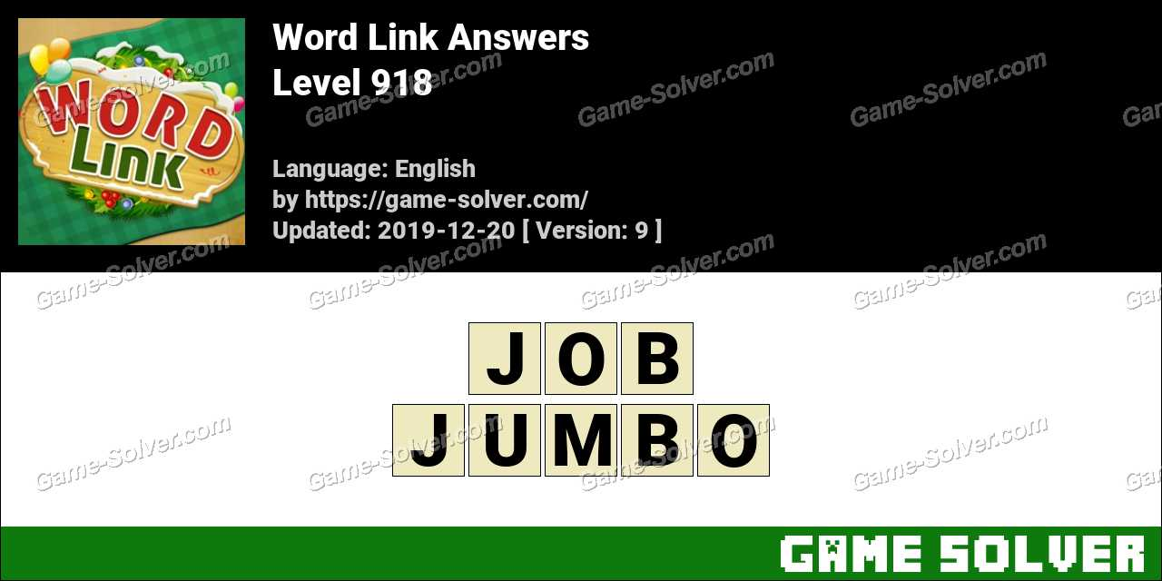Word Link Level 918 Answers