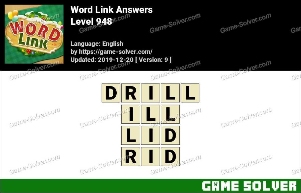 Word Link Level 948 Answers