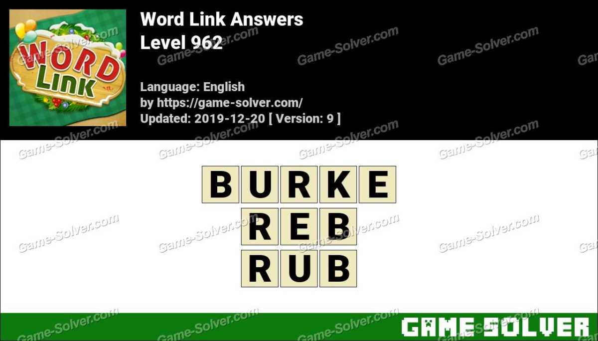 Word Link Level 962 Answers