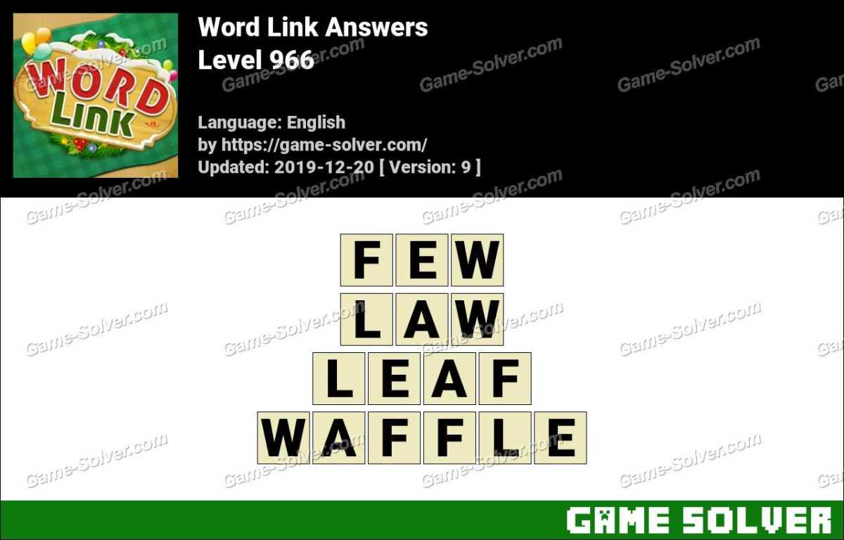 Word Link Level 966 Answers