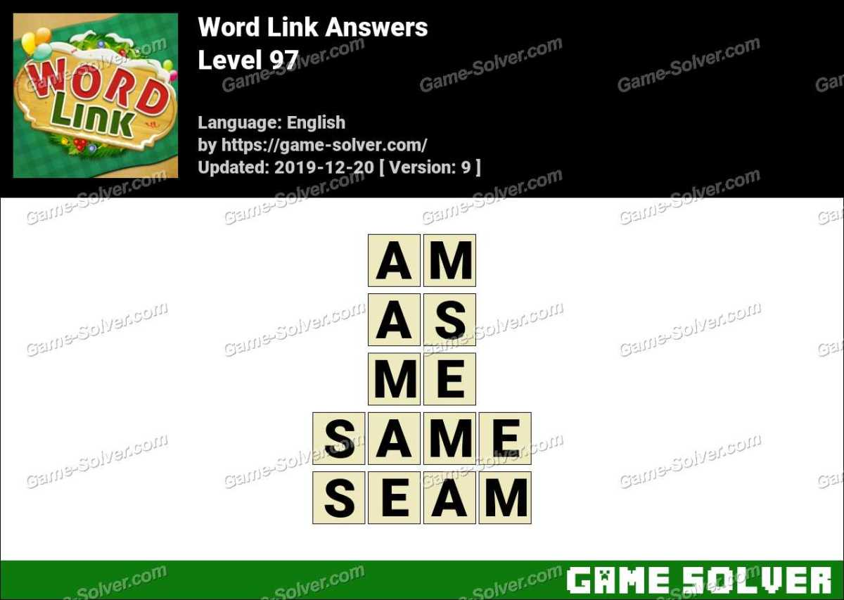 Word Link Level 97 Answers