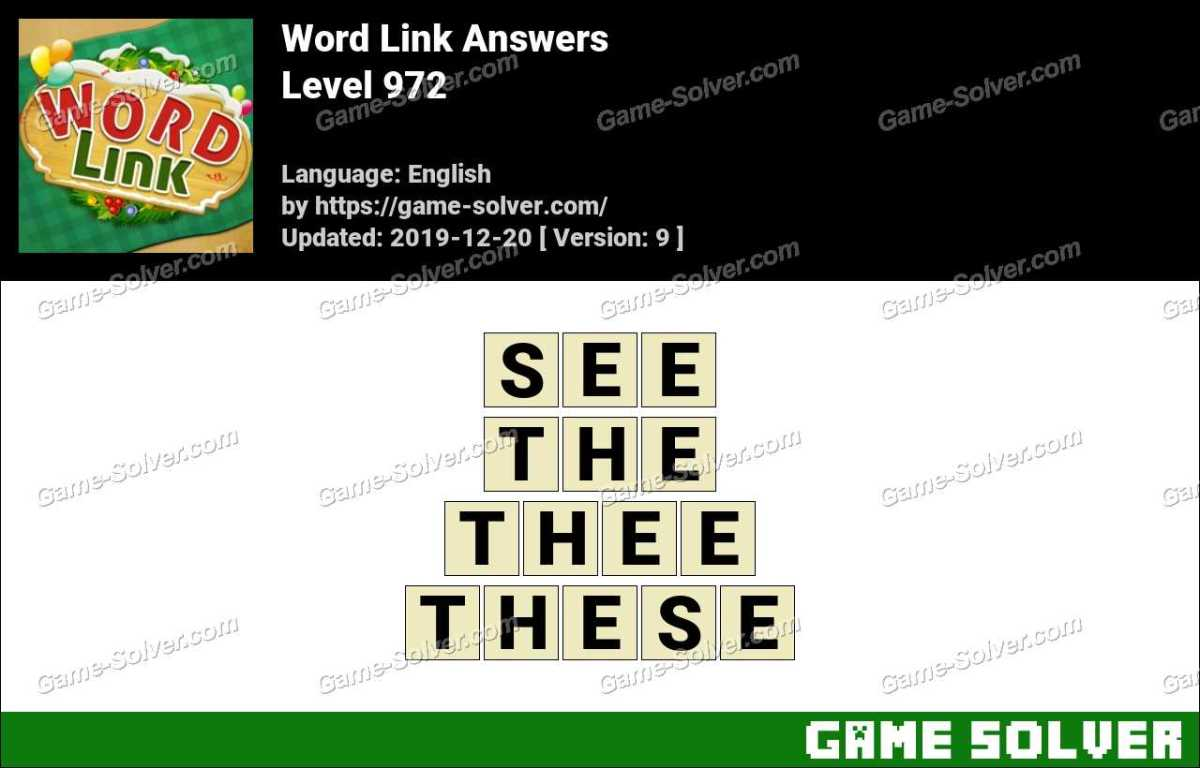 Word Link Level 972 Answers