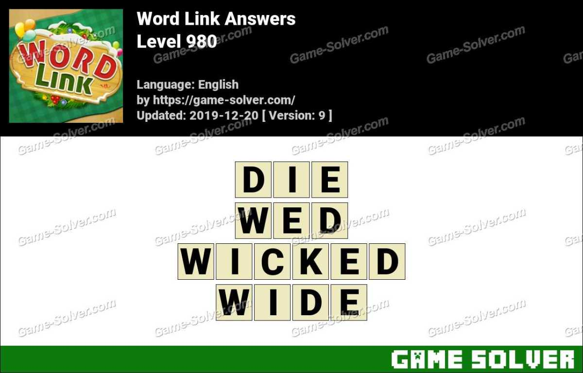 Word Link Level 980 Answers