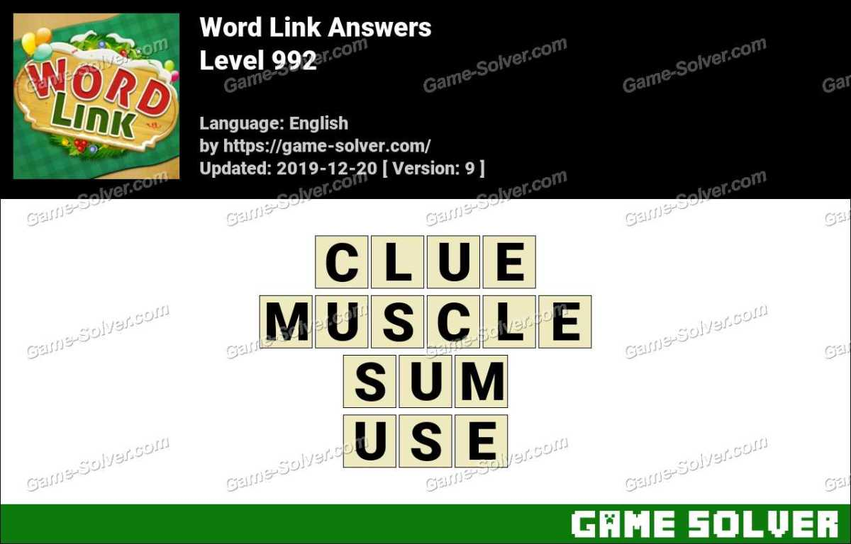 Word Link Level 992 Answers