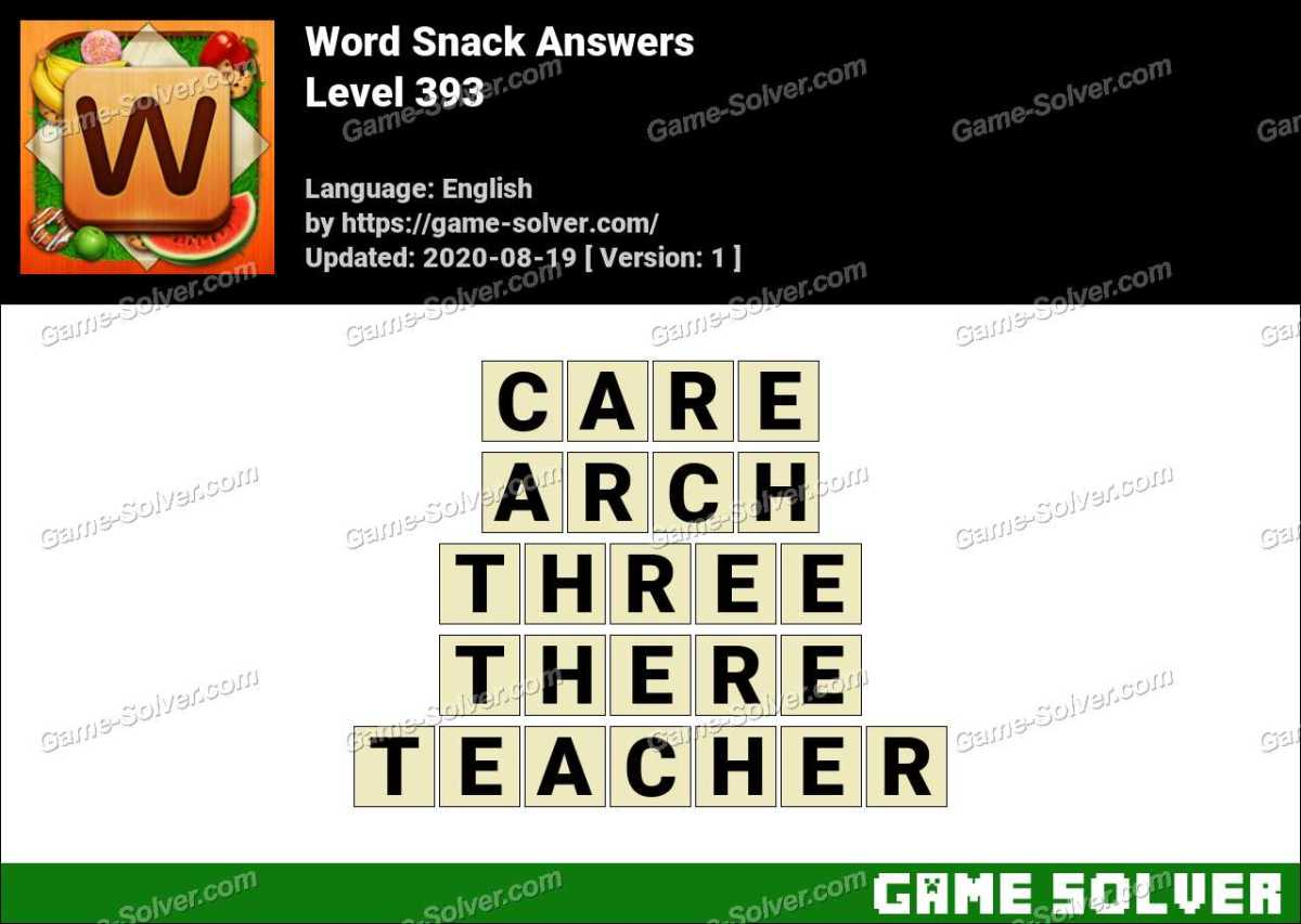 Word Snack Level 393 Answers