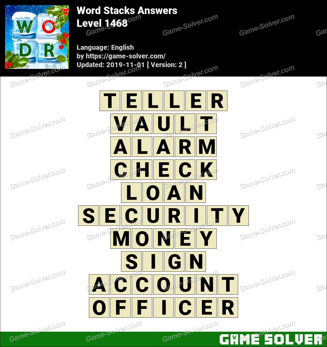 Word Stacks Level 1468 Answers