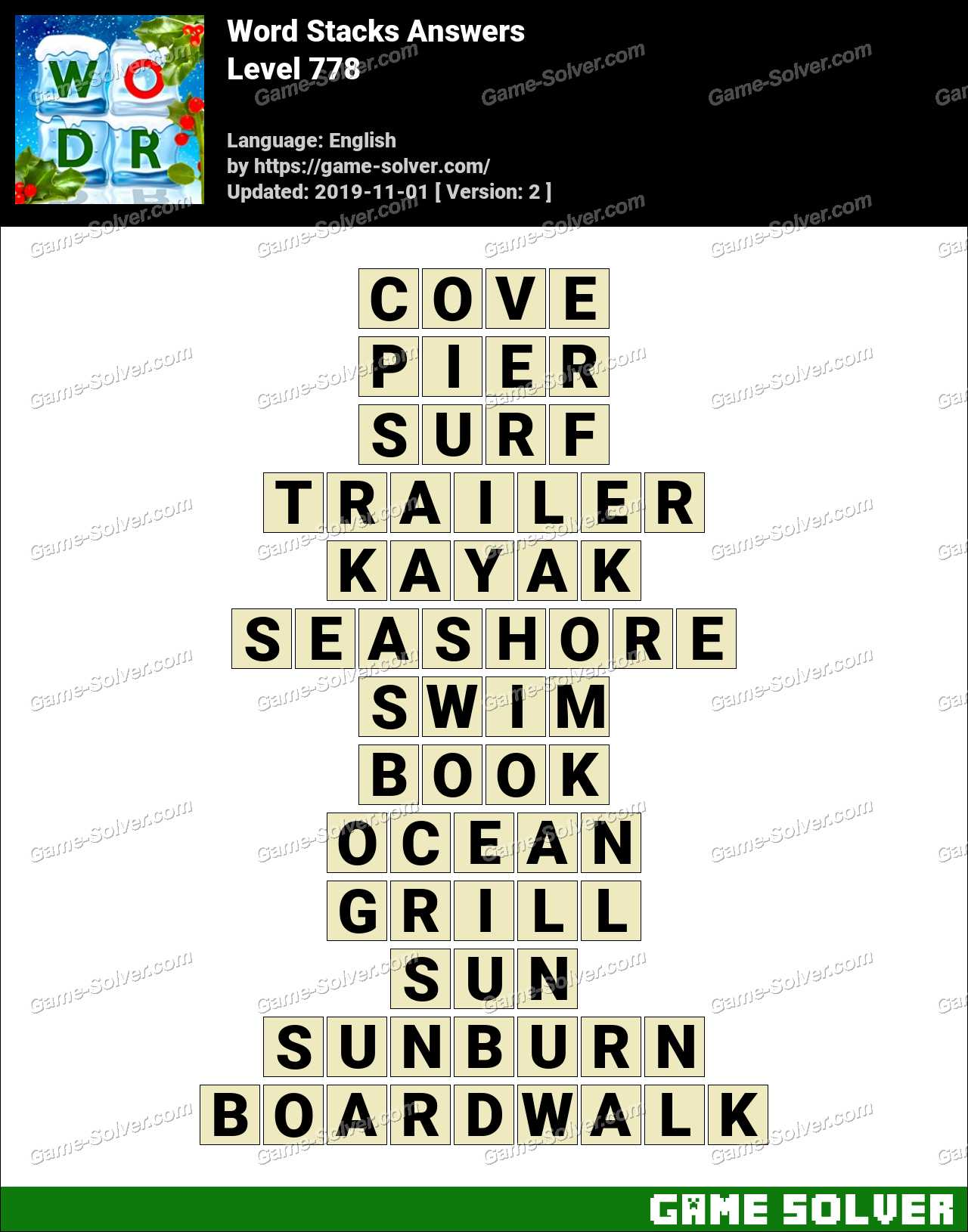 Word Stacks Level 778 Answers