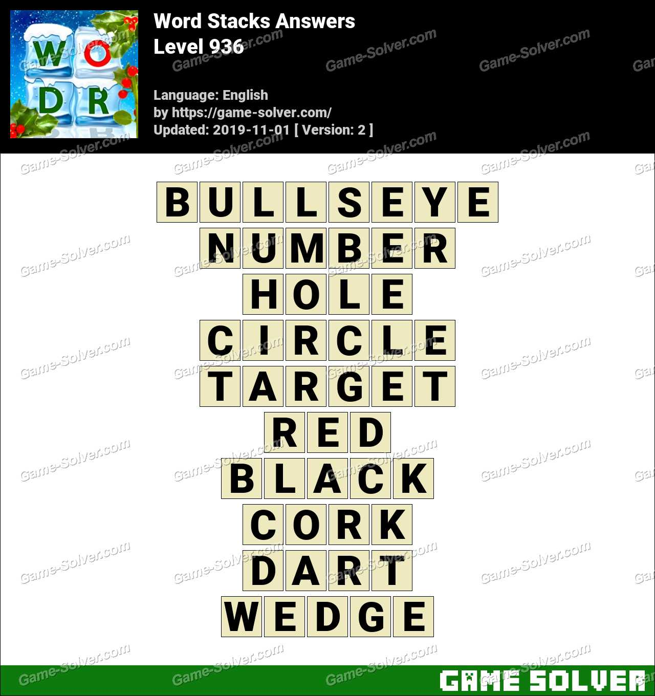 Word Stacks Level 936 Answers