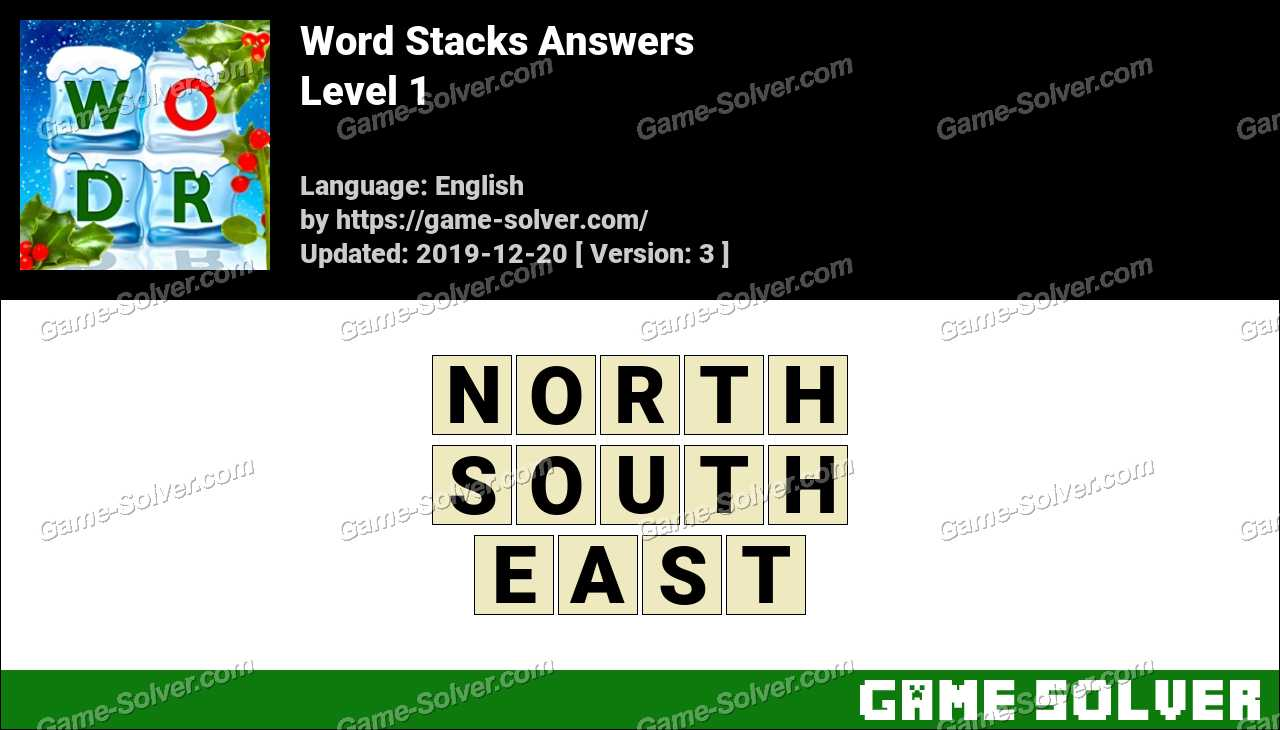 Word Stacks Level 1 Answers
